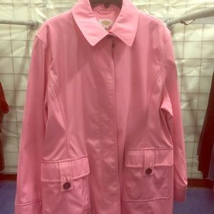 NWOT Pink Talbots button front raincoat as new 16